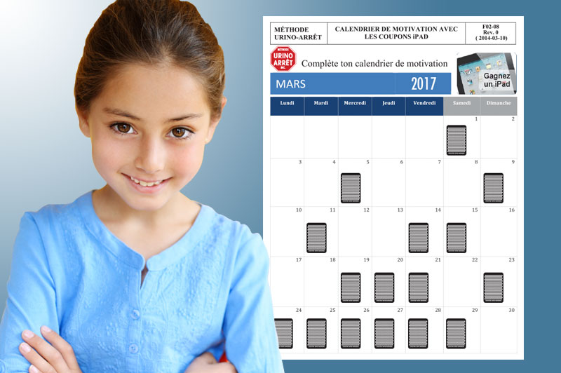 Lien vers la section calendrier de motivation Urino-Arrêt