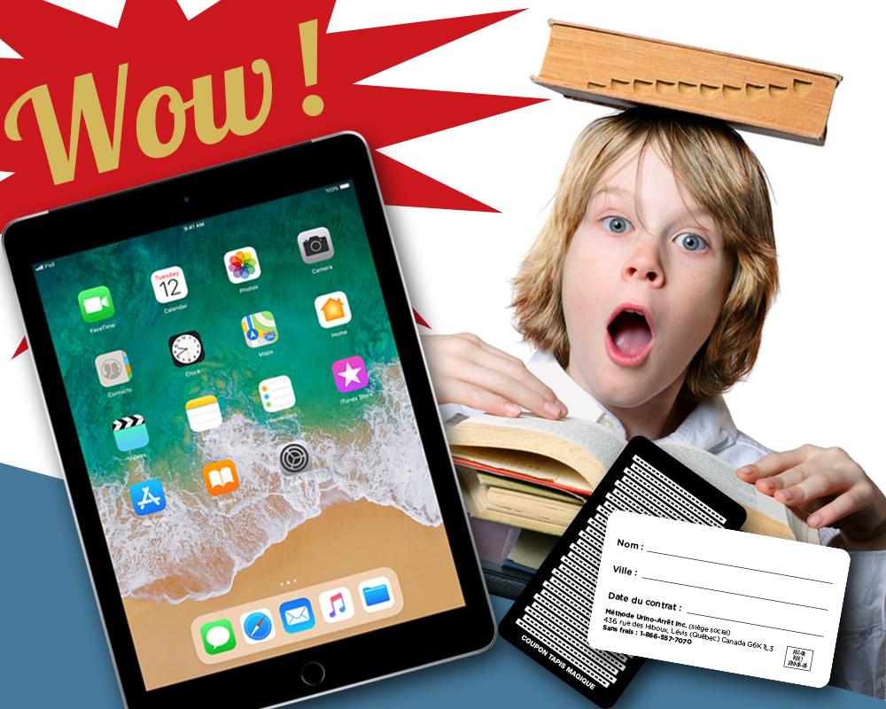 Courez la chance de gagner un iPad avec les coupons Urino-Arrêt