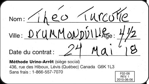 Théo, gagnant d'un iPad avec l'accumulation de ses coupons Urino-Arrêt suite à la réussite de son traitement de l'énurésie (pipi au lit)