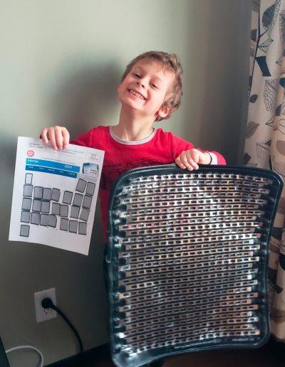 Zachary a vaincu son énurésie nocturne et participe au tirage d'un iPad de Urino-Arrêt
