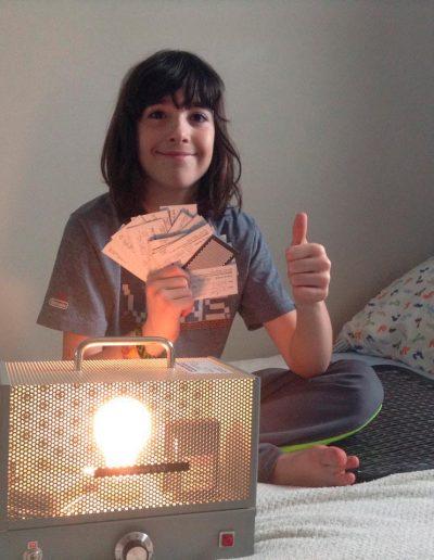 Victor participe au tirage d'un iPad grâce à sa victoire sur son énurésie