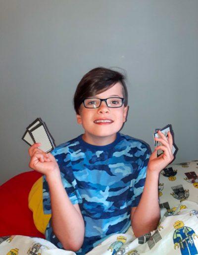 Félix, ambassadeur Urino-Arrêt participe au tirage d'un iPad grâce à sa victoire sur son énurésie nocturne (Pipi au lit).